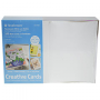 "Strathmore Creative Greeting Cards Fluorescent White/Deckle - 5"" x 6 7/8"""