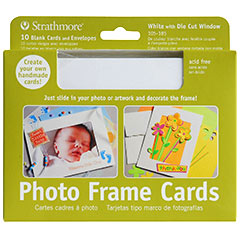 "Strathmore Photo Frame Cards White - 5"" x 6 7/8"""
