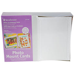 Store Strathmore Photo Mount Cards Embossed Frame White 5 X 6 78