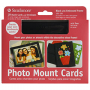 "Strathmore Photo Mount Cards Embossed Frame, Black - 5"" x 6 7/8"""