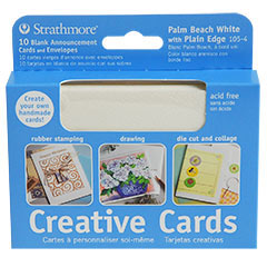 "Strathmore Creative Greeting Cards Palm Beach/Plain Edge - 3 7/8"" x 9"""