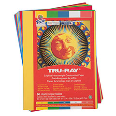 Tru Ray Assorted Construction Paper Pack Pk/50