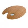 FC Art Oval Wooden Palette