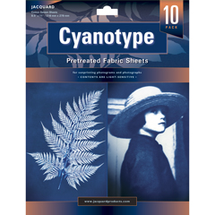 Jacquard Cyanotype Pre-Treated Fabric Pack of 10