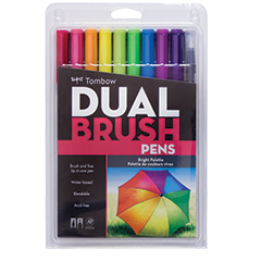 Tombow Dual Brush Pen Set Bright Palette