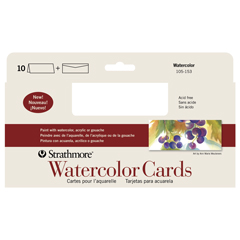 "Strathmore Watercolor Cards Pack  White - 3 7/8"" x 9"""