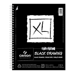 Canson XL Black Drawing Pad