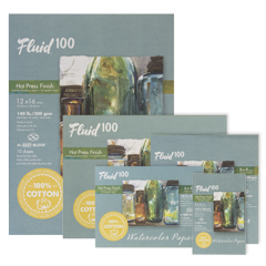 Fluid 100 Watercolour Hot Press Blocks