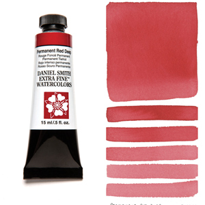 Daniel Smith Extra Fine Watercolors Permanent Red Deep