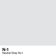 COPIC Sketch Marker Pen - Neutral Gray #1 (N1)