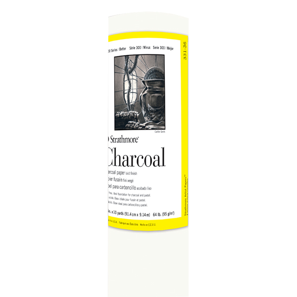 Strathmore 300 Series Charcoal White Paper Roll