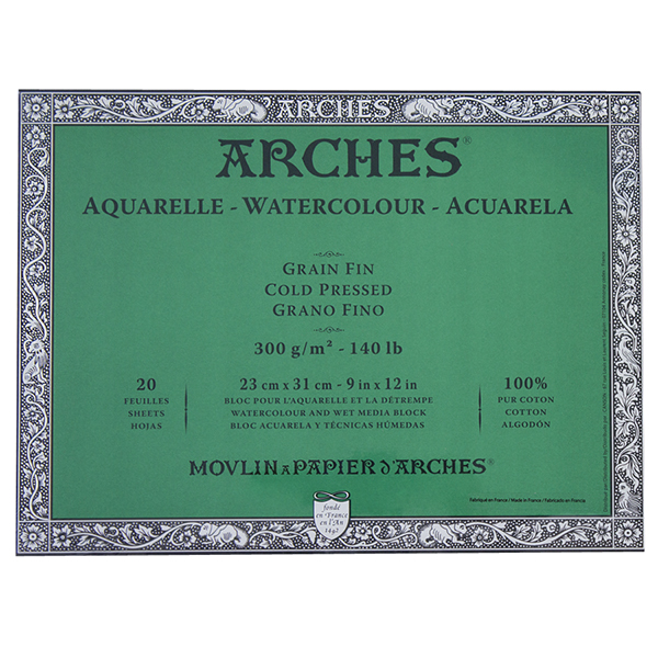 ARCHES Cold Press Watercolour Paper Block 140 lb