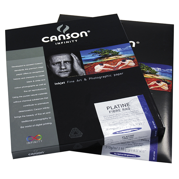 Canson Infinity Platine Fibre Rag Paper 310 gsm Pk/25 (Special Order)