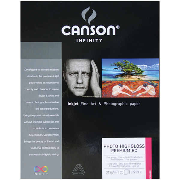 Canson Infinity Photo HighGloss Premium Resin Coated Paper Pk/25 (Special Order)