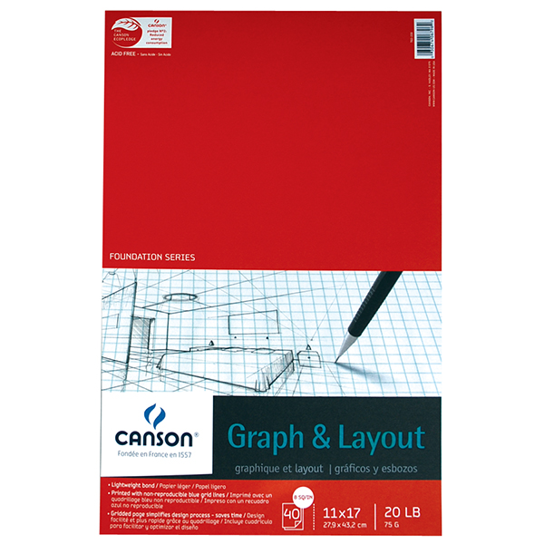 Canson Graph and Layout Paper Pad 40 sheets