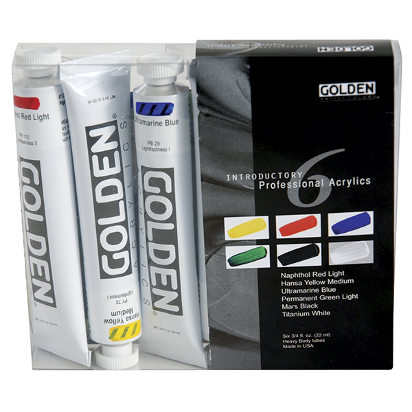 GOLDEN Introductory Professional Acrylics Set of 6