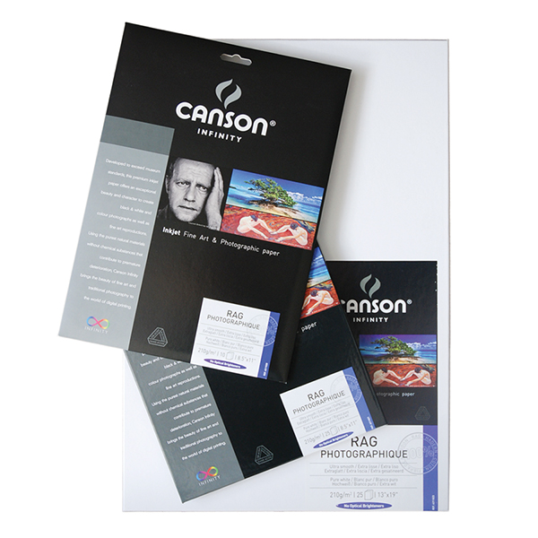 Canson Infinity Rag Photographique Paper 210 gsm Pk/10 (Special Order)