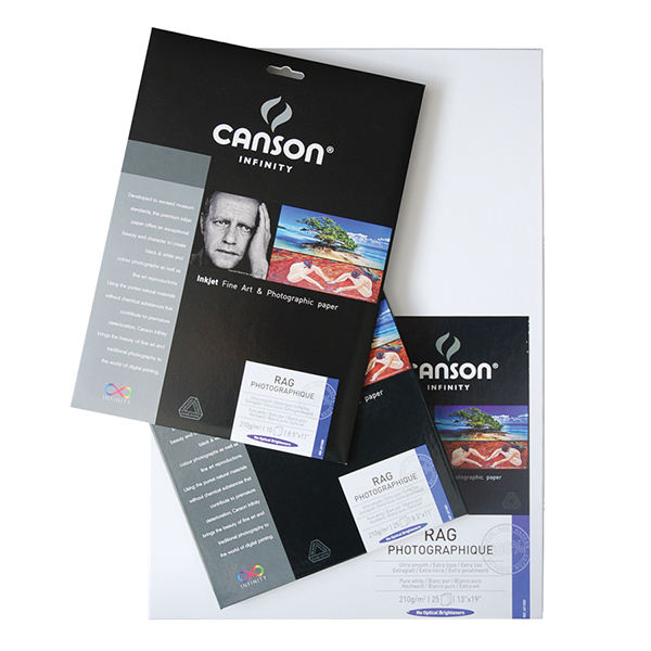 Canson Infinity Rag Photographique Paper 210 gsm Pk/25 (Special Order)