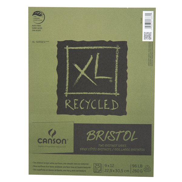Canson XL Recycled Bristol Pad 25 sheets