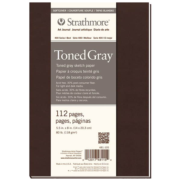 Strathmore 400 Series Toned Grey Sketch Softcover Art Journal