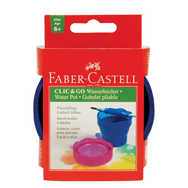 Faber-Castell Clic & Go Foldable Water Pot Blue