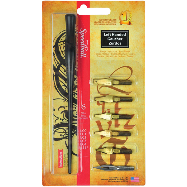 Speedball LC Lefthand Flat Drawing & Lettering Nibs Set