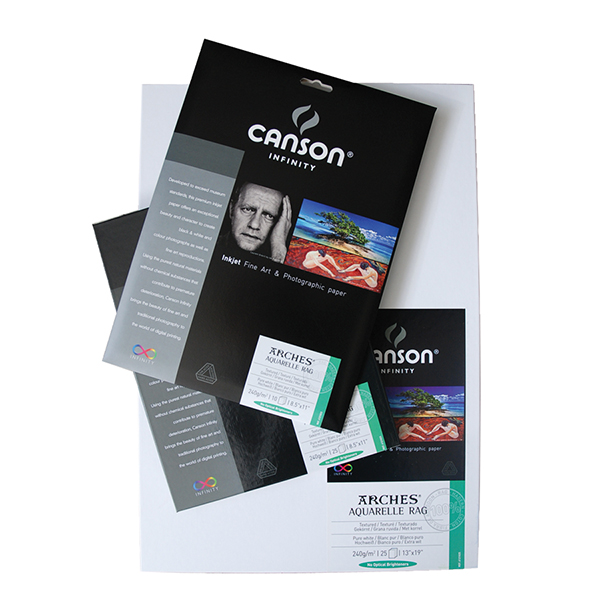 Canson Infinity Aquarelle Rag Paper 240 gsm  Pk/10 (Special Order)