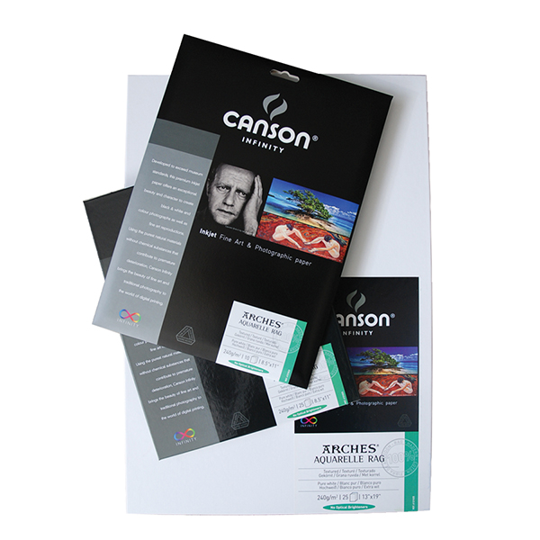 Canson Infinity Aquarelle Rag Paper 240 gsm  Pk/25 (Special Order)