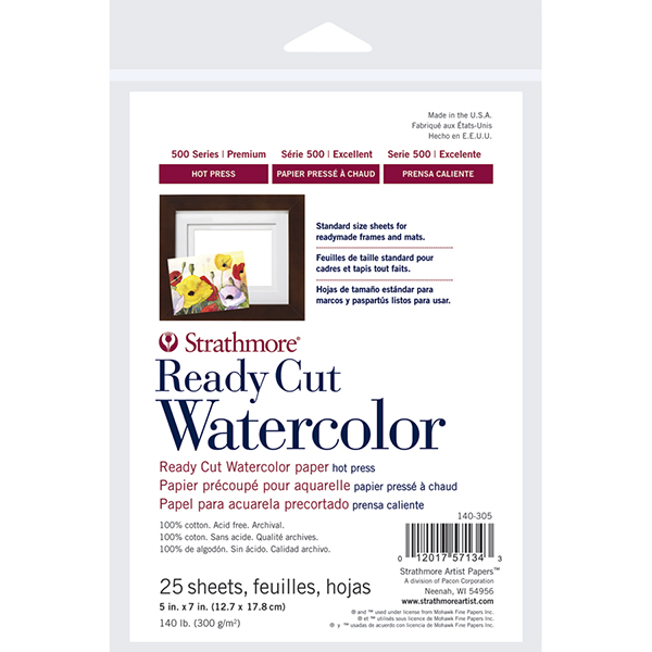Store - Strathmore 500 Series Ready Cut Watercolor Paper Pack Hot Press