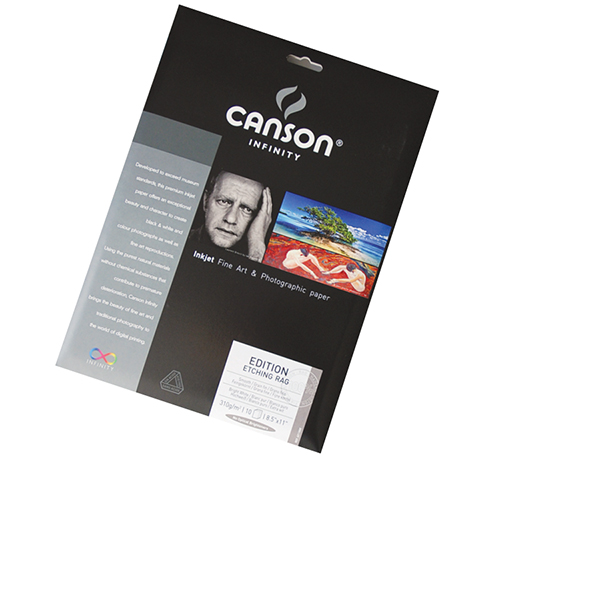 Canson Infinity Edition Etching Rag Paper 310 gsm Pk/10 (Special Order)