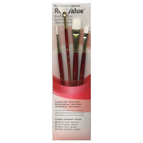 Princeton RealValue Brush Sets Synthetic White Taklon - Red Label