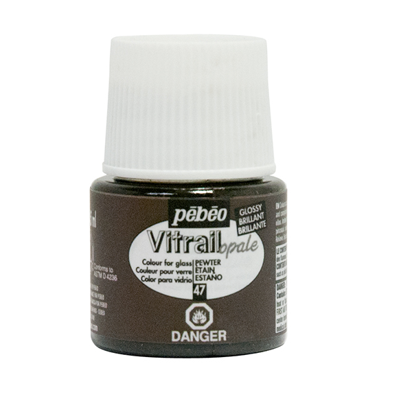 Vitrail Opaque Paint Pewter