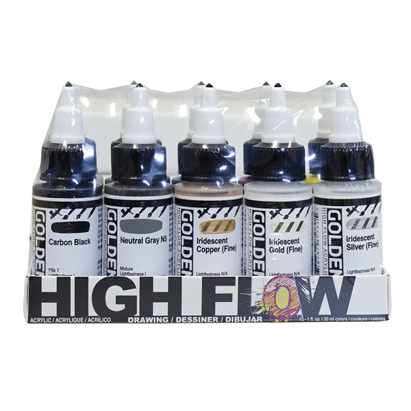 GOLDEN High Flow Acrylics Drawing Set of 10