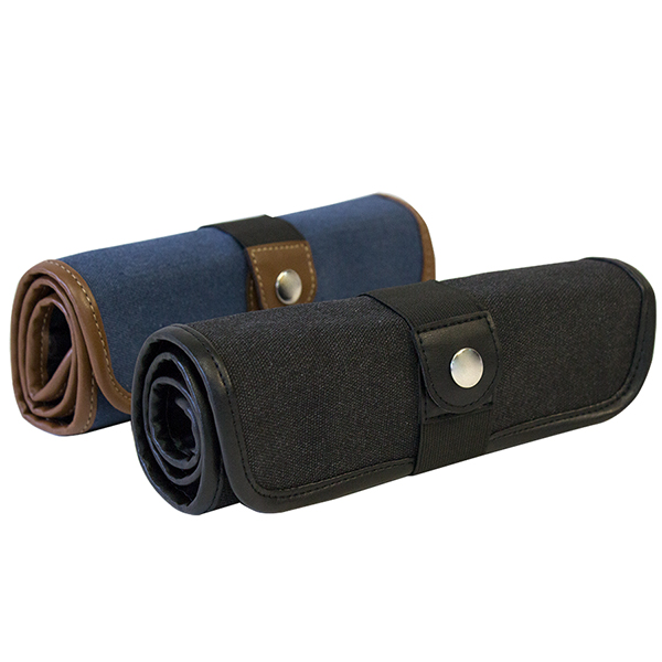 Global Art Canvas Pencil Roll Up Case - Black