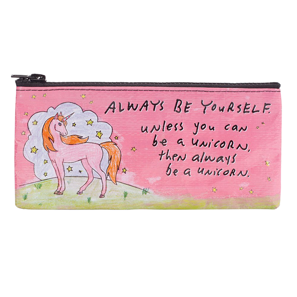 Blue Q Pencil Case - Unless You Can Be A Unicorn