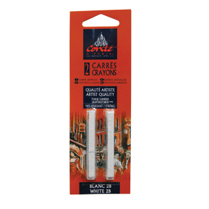 Conte Sketching Crayon Pack of 2 White 2B