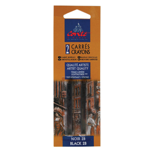 Conte Sketching Crayon Pack of 2 Black 2B