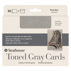 Strathmore Toned Gray Blank Cards