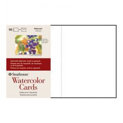 "Strathmore Watercolor Cards Pack White - 5"" x 6 7/8"""