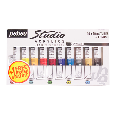 Pebeo Selection Studio Acrylics Set/10