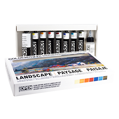 GOLDEN OPEN Acrylics Landscape Color Set of 9