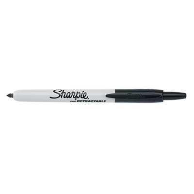 Sharpie Retractable Permanent Marker Black