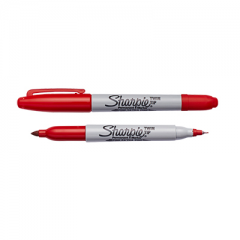 Sharpie Twin Tip Permanent Marker Red