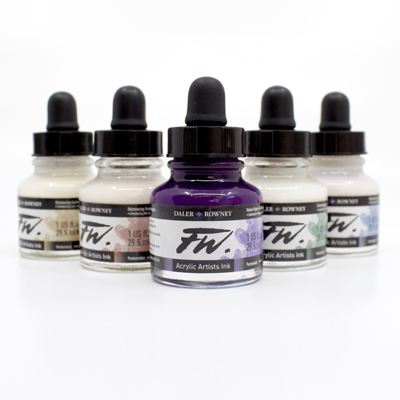 Daler Rowney FW Artists' Ink Set - Shimmering