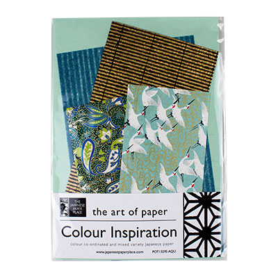 Japanese Paper Place Colour Inspiration Mix Aqua