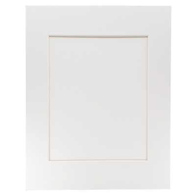 "Archival Museum Mat with 5"" x 7"" Window - White"