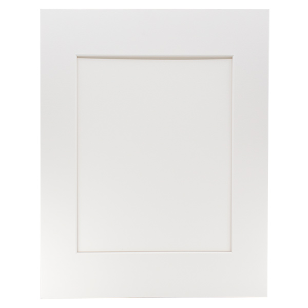 "Archival Museum Mat with 13"" x 19"" Window - White"