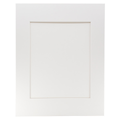 "Archival Museum Mat with 8 1/2"" x 11"" Window - White"