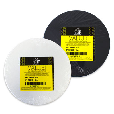Fredrix Round Canvas Panel Packs