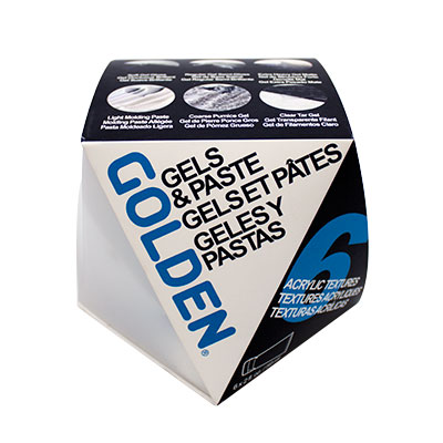 GOLDEN Gel Mediums & Paste Set of 6